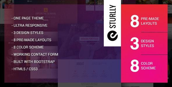 Sturlly Responsive One Page Multipurpose Template - Portfolio Creative