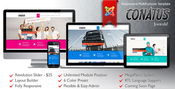 Conatus Responsive MultiPurpose Joomla Template - Business Corporate