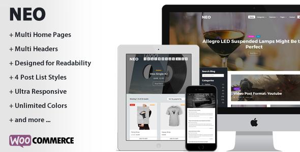 NEO - A Modern Personal WordPress Theme - Personal Blog / Magazine