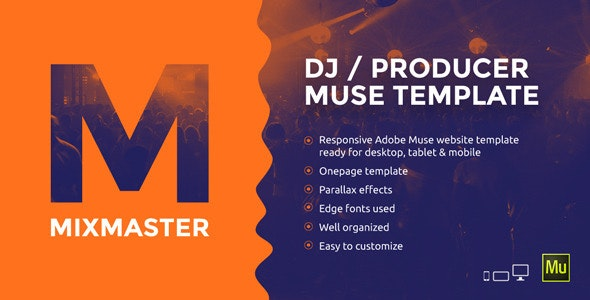 MixMaster - DJ / Producer Website Muse Template - Personal Muse Templates