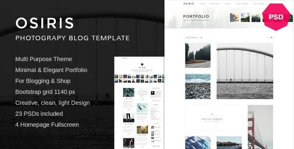 Osiris Minimal Multi-Purpose PSD - Photoshop UI Templates