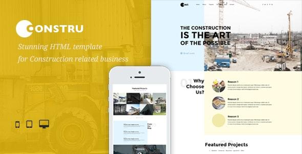 Constru - Build & Construction HTML Template - Business Corporate