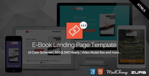 UpSell - E-Book Landing Page  - Marketing Corporate