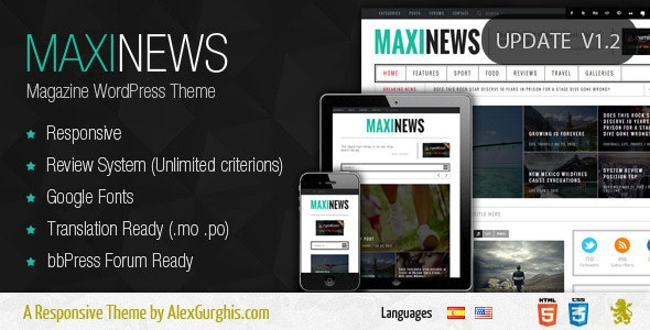 MaxiNews - Premium Review Magazine Theme - News / Editorial Blog / Magazine