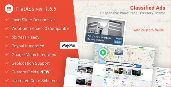 FlatAds - Classified Ads WordPress Theme - Directory & Listings Corporate