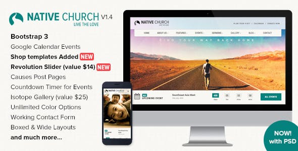 NativeChurch - Responsive HTML5 Template