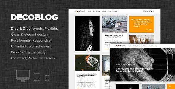 Decoblog - Lifestyle / Personal Blog Theme - Personal Blog / Magazine