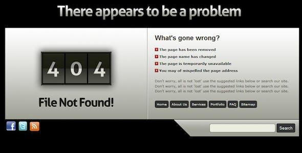 Stylish grunge custom error pages