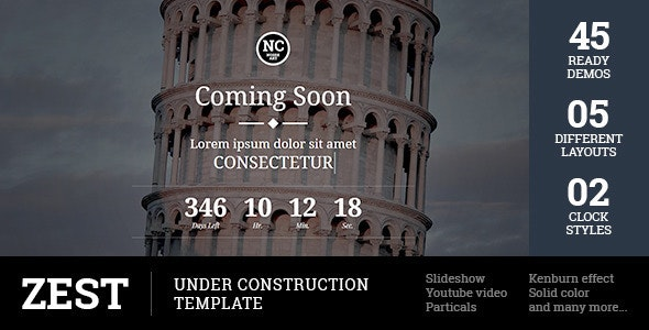Zest - Under Construction Template - Under Construction Specialty Pages