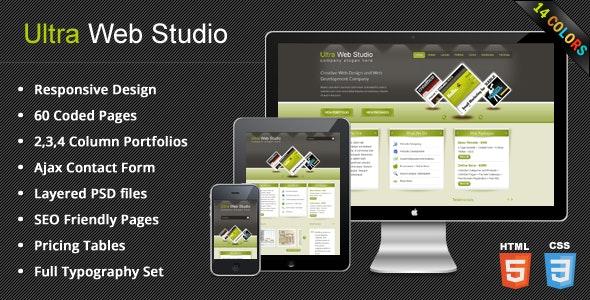 UltraWebStudio - Responsive Multipurpose HTML Theme - Creative Site Templates