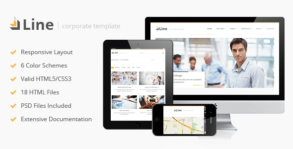 Line - Responsive Corporate HTML Template - Business Corporate