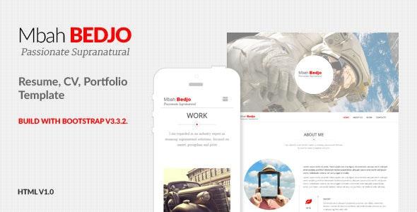 Bedjo - Resume, CV, Portfolio Template - Resume / CV Specialty Pages