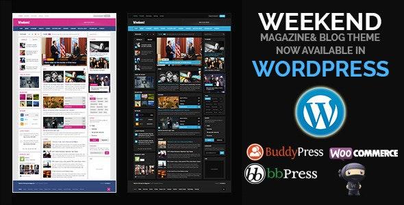 Weekend - Magazine Responsive WordPress Theme - Blog / Magazine WordPress
