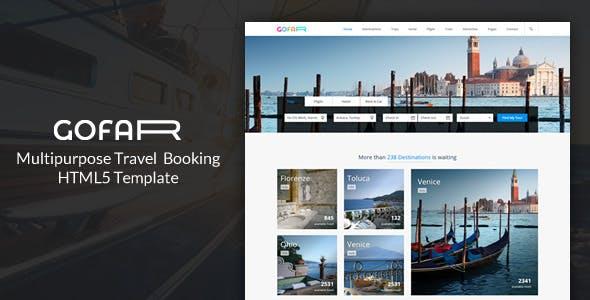 Gofar - Multipurpose Travel Booking Template