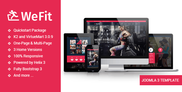 Wefit - Health, Sport, Gyms and Trainers Template - Health & Beauty Retail