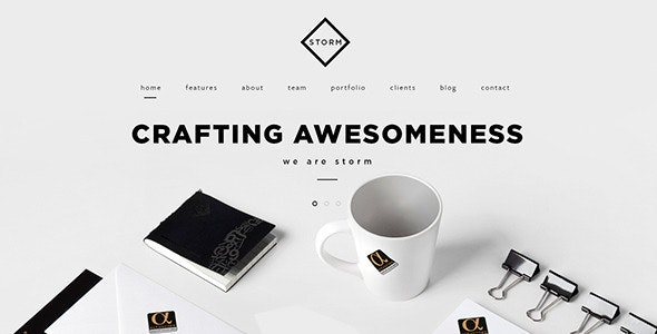 STORM | Creative One Page HTML5 Template - Creative Site Templates