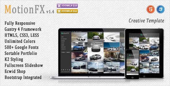 MotionFX - Responsive Joomla Template - Joomla CMS Themes