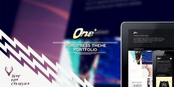 One Plus - Portfolio Theme Just for Creatives - Portfolio Creative