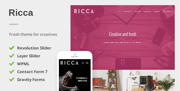 Ricca - A Fresh Responsive Theme For Creatives - Portfolio Creative