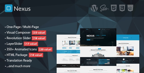 Nexus - Multi/One-Page Business WordPress Theme - Corporate WordPress