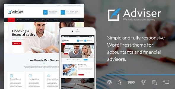 Adviser | A Modern Finance & Accounting WordPress Theme