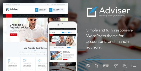 Adviser | A Modern Finance & Accounting WordPress Theme - Business Corporate
