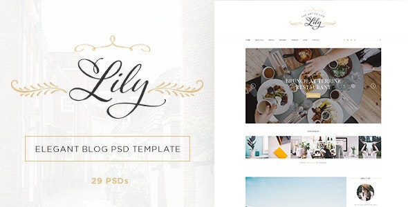 Lily - Elegant Blog Psd Template - Miscellaneous Photoshop