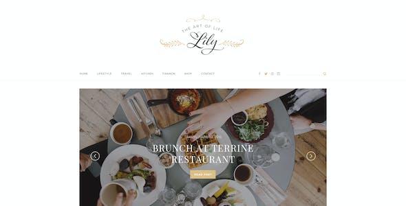 Lily - Elegant Blog Psd Template