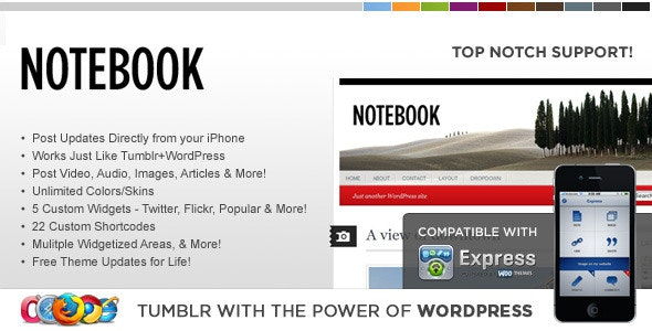 WP Notebook WordPress Theme - Blog / Magazine WordPress