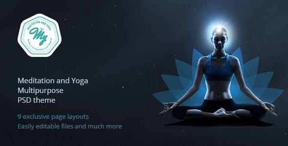 Meditation and Yoga | Multipurpose PSD Template - Business Corporate