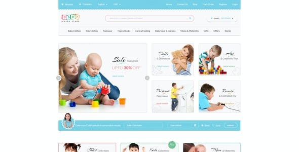 Baby & Kids Store eCommerce PSD Template
