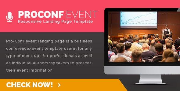 Proconf Event Landing Page - Events Entertainment
