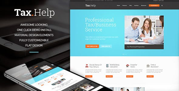 Tax Help Finance Accounting WordPress Theme