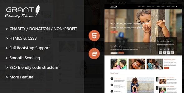Grant - Charity / Nonprofit / NGO HTML5 Template - Charity Nonprofit