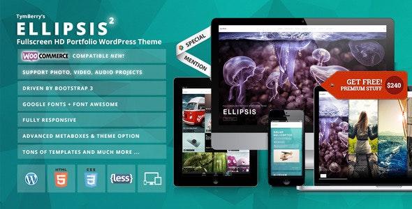 Ellipsis - Fullscreen HD Portfolio WordPress Theme - Portfolio Creative
