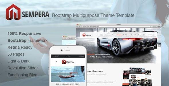 Sempera - Bootstrap Multipurpose Theme Template