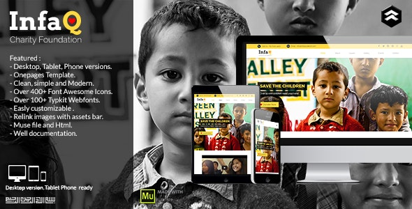 Infaq - Charity, Nonprofit Muse Template - Miscellaneous Muse Templates