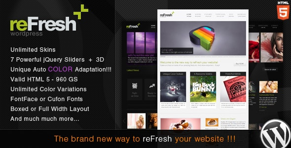 reFresh - Powerful Clean & Elegant WordPress Theme - Creative WordPress