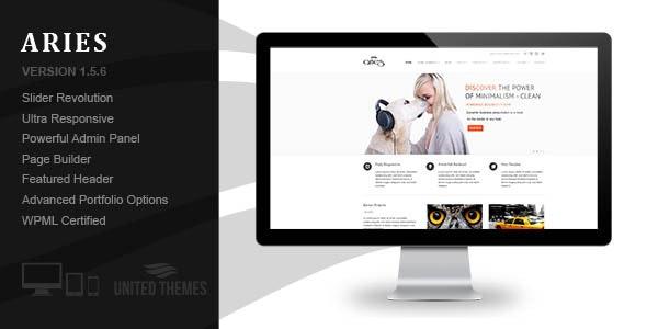 Aries - Responsive Business WordPress Theme by UnitedThemes