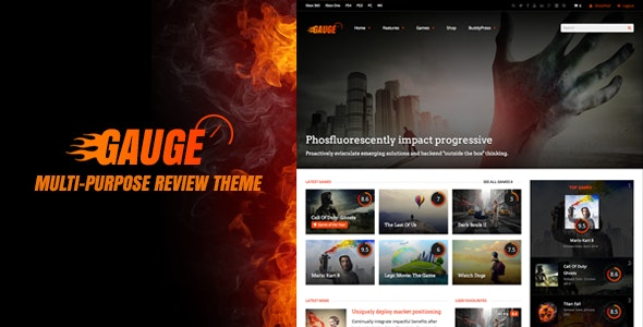Gauge: Multi-Purpose Review Theme - Blog / Magazine WordPress