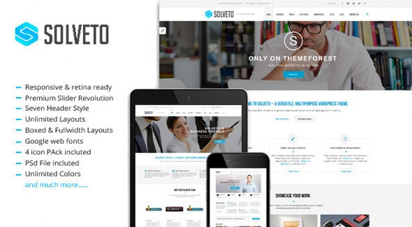 Solveto - Multipurpose Business Template - Business Corporate