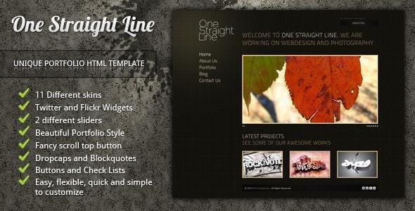 One Straight Line - unique portfolio template - Portfolio Creative