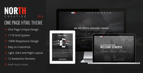 North - One Page Parallax Theme by GoldEyes