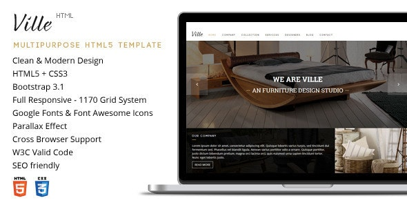 Ville - Multi-Purpose HTML Template - Corporate Site Templates