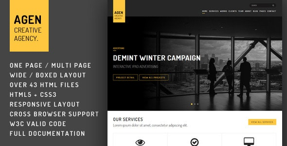 AGEN - HTML Template - Creative Site Templates