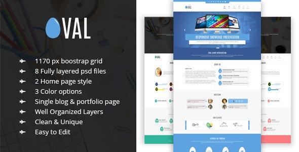 Oval - Creative OnePage PSD Template - Portfolio Creative
