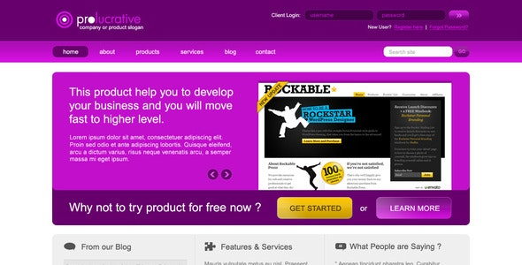 ProLucrative - Business - Portfolio PSD template - Corporate Photoshop