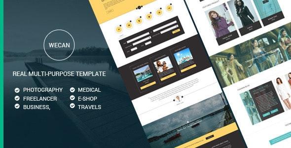 WeCan | Multi-Purpose PSD Template - Creative Photoshop