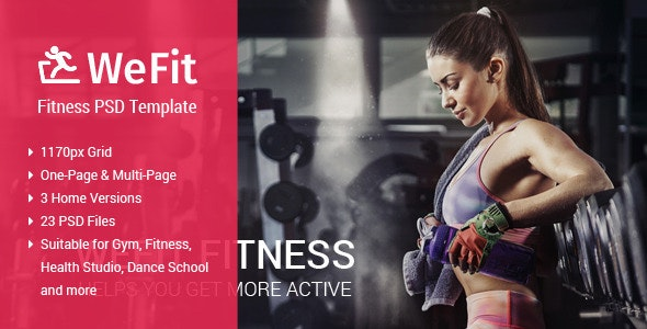 WeFit | Health & Fitness PSD Template - Health & Beauty Retail