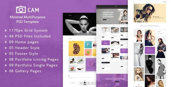 CAM | Minimal MultiPurpose PSD Template - Creative Photoshop